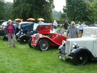 Classic car rally at Hutton-in-the-Forest
