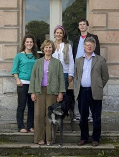 The family at Hutton-in-the-Forest